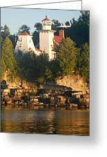 White Lighthouse Greeting Card