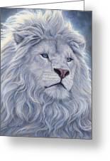White Lion Greeting Card