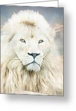 White Lion - Spirit Of Goodness Greeting Card