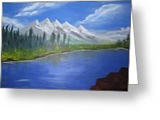 White Mountains Greeting Card by Haleema Nuredeen