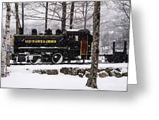 White Mountains Railroad And Train Greeting Card