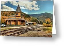 White Mountans Crawford Train Depot Greeting Card