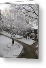 White Neighbourhood Greeting Card