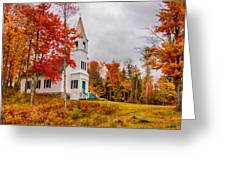 White New Hampshire Church Greeting Card