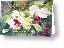 White Orchid John 14 Greeting Card