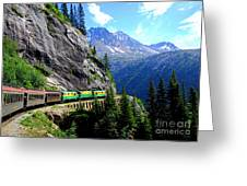 White Pass And Yukon Route Railway In Canada Greeting Card