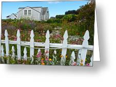 White Picket Fence In Mendocino Greeting Card