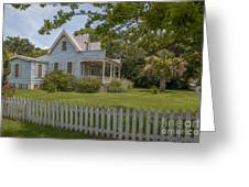 White Pickett Fence Greeting Card