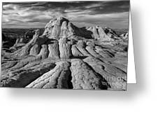 White Pocket Brain Rock Greeting Card by Jerry Fornarotto