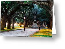 White Point Garden Walkway Charleston Sc Greeting Card