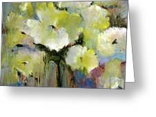 White Poppy Bouquet Greeting Card