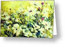 White Poppy Garden Greeting Card