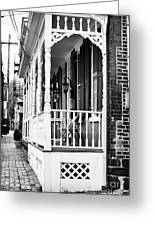 White Porch Greeting Card
