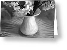 White Rays And Flowers Greeting Card