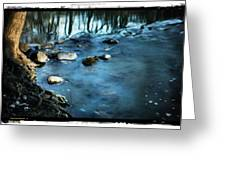White River Flowing Greeting Card