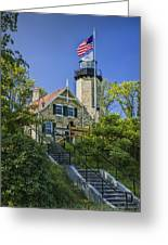 White River Lighthouse In Whitehall Michigan No.057 Greeting Card