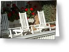 White Rockers Flower 21160 Greeting Card