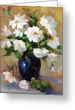 White Rose Elegance Greeting Card