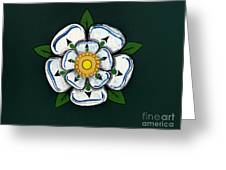 White Rose Of York Greeting Card