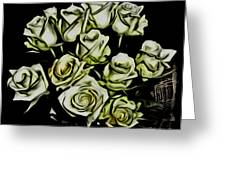 White Roses - Moving On Greeting Card