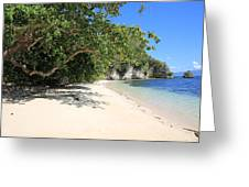 White Sand And Blue Sky Greeting Card