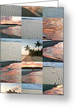 White Sand And Fire Water By Julia Fine Art  Greeting Card