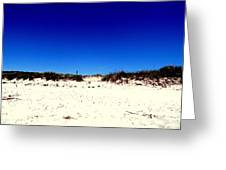 White Sand Blue Skies Greeting Card