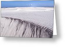 White Sand Greeting Card by Frits Selier