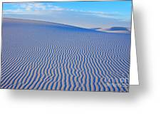 White Sand Patterns New Mexico Greeting Card by Bob Christopher