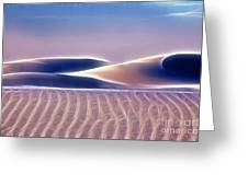 White Sands Abstract Greeting Card