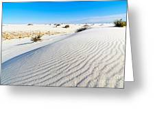 White Sands - Morning View White Sands National Monument In New Mexico. Greeting Card