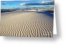 White Sands Of New Mexico Greeting Card