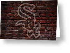 White Sox Baseball Graffiti On Brick  Greeting Card by Movie Poster Prints