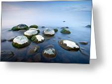 White Stones In The Water Greeting Card by Anna Grigorjeva