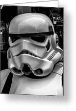 White Stormtrooper Greeting Card by David Doyle