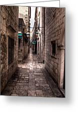 White Streets Of Dubrovnik No5 Greeting Card