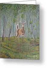 White-tailed Deer - Impressionistic Greeting Card
