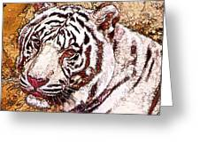 White Tiger Twist Greeting Card