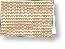 White Triangles On Burlap Greeting Card