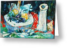 White Vase And Bowl Greeting Card