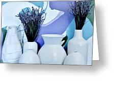 White Vases Greeting Card