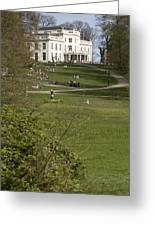 White Villa In Sonsbeek Park In Arnhem Netherlands Greeting Card