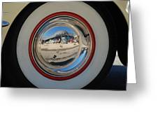 White Walls On A 49' Buick Greeting Card