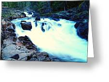 White Water On The Ohanapecosh River  Greeting Card