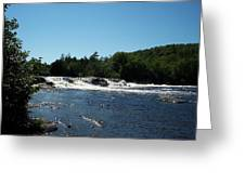 White Water On The West Branch Greeting Card