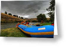 White Water Rafting Boat Greeting Card