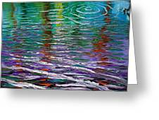White Waves And Ripple Greeting Card