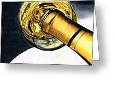 White Wine Art - Lap Of Luxury - By Sharon Cummings Greeting Card