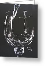 White Wine In Black And White Greeting Card