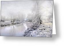 White Winter Greeting Card